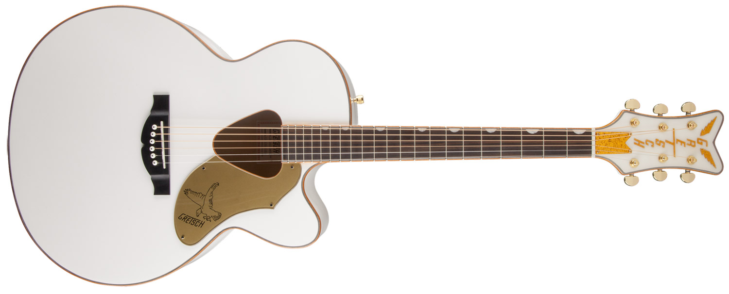 VIOL�O RANCHER FALCON JUMBO CUTAWAY GRETSCH G5022CWFE ACOUSTIC COLLECTION - 271-4024-505 - WHITE